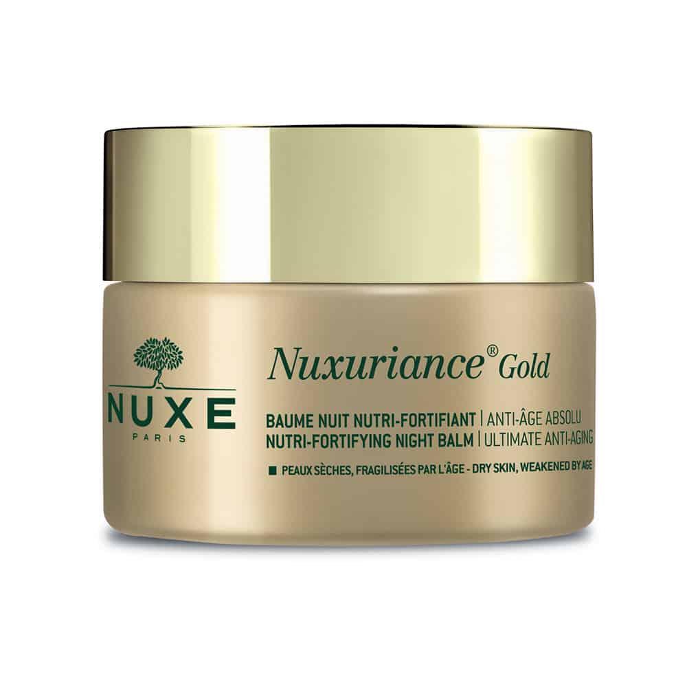Nuxe Nuxuriance Gold Nutri-Fortifying Night Balm - Balm νύχτας για θρέψη και ενδυνάμωση για ξηρή επιδερμίδα που έχει γίνει εύθραυστη με τη πάροδο του χρόνου 50ml