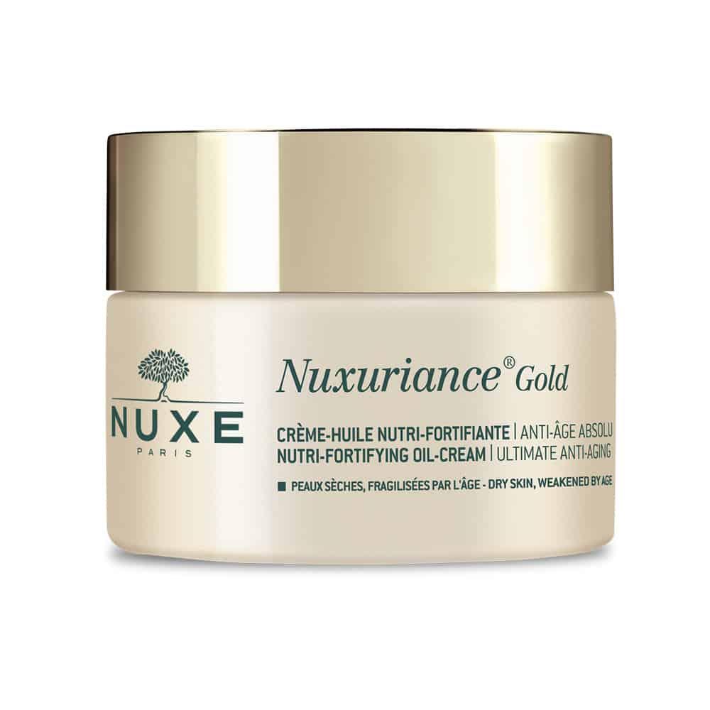 Nuxe Nuxuriance Gold Nutri-Fortifying Oil-Cream Η κρέμα ημέρας για θρέψη και ενδυνάμωση για ξηρή επιδερμίδα που έχει γίνει εύθραυστη με τη πάροδο του χρόνου 50ml