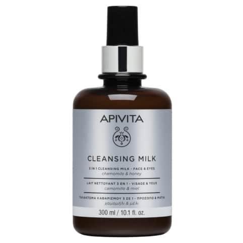 Apivita Limited Edition Γαλάκτωμα 3 Σε 1 για Πρόσωπο & Μάτια με Χαμομήλι & Μέλι 300ml
