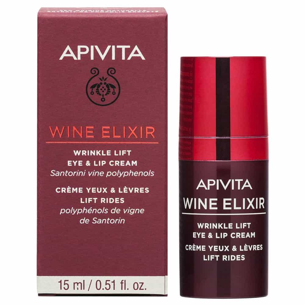 Apivita New Wine Elixir Αντιρυτιδική Κρέμα Lifting για τα Μάτια και τα Χείλη 15ml