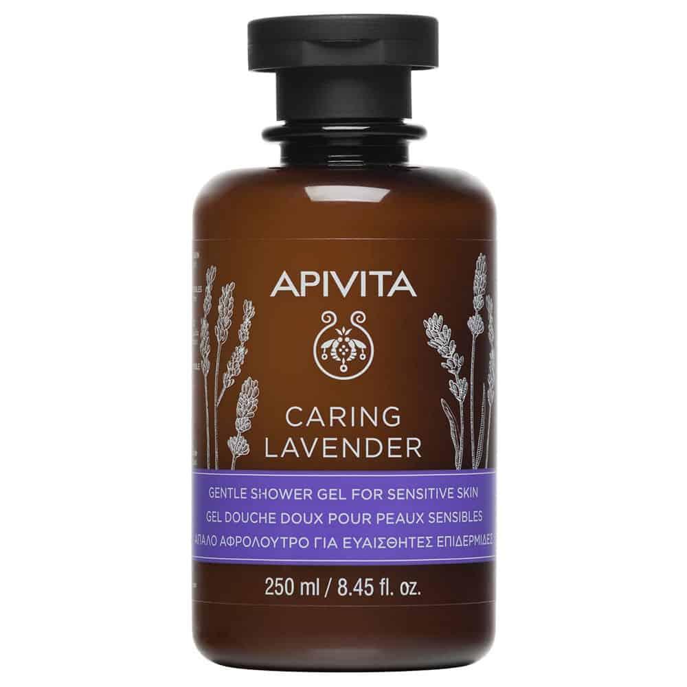 Apivita Caring Lavender Απαλό Αφρόλουτρο Για Ευαίσθητες Επιδερμίδες Υποαλλεργικό 300ml