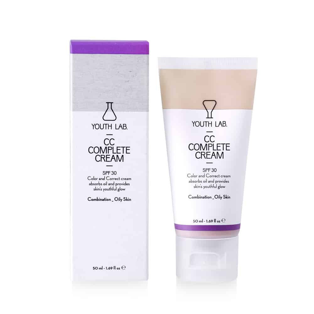 Youth Lab CC Complete Cream SPF30 Καλυπτική Κρέμα Αναδόμησης Με Χρώμα - Λιπαρό Δέρμα 50ml