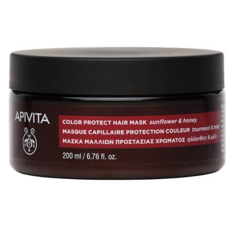 Apivita Apivita Color Protect Hair Mask Μάσκα Προστάσιας Χρώματος για Βαμμένα Μαλλιά με Ηλίαθο & Μέλι, 200ml