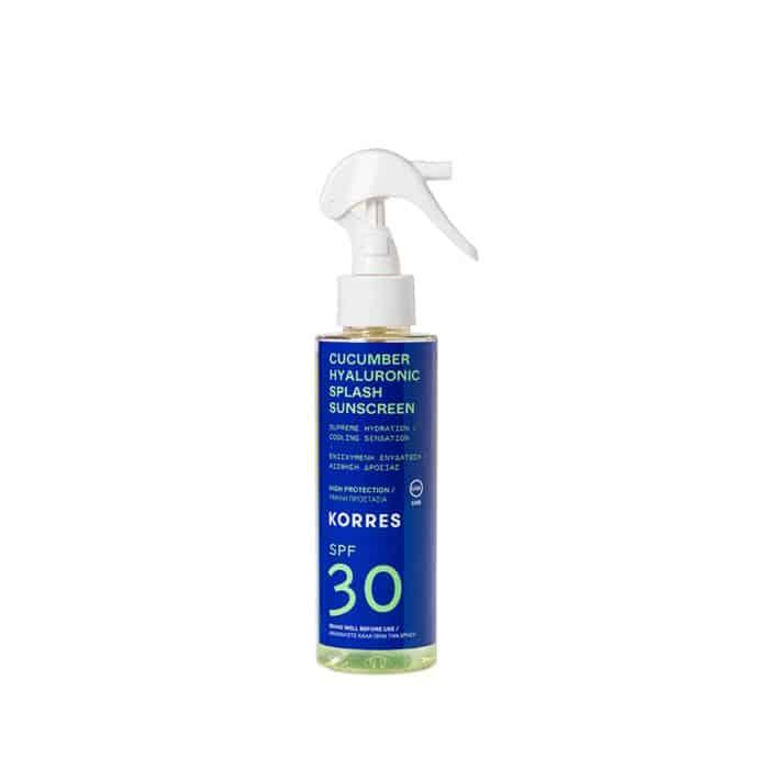 Korres Υαλουρονικό Splash Αντηλιακό SPF30 Αγγούρι 150ml