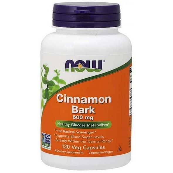 Now foods Cinnamon Bark 600mg 120 φυτικές κάψουλες