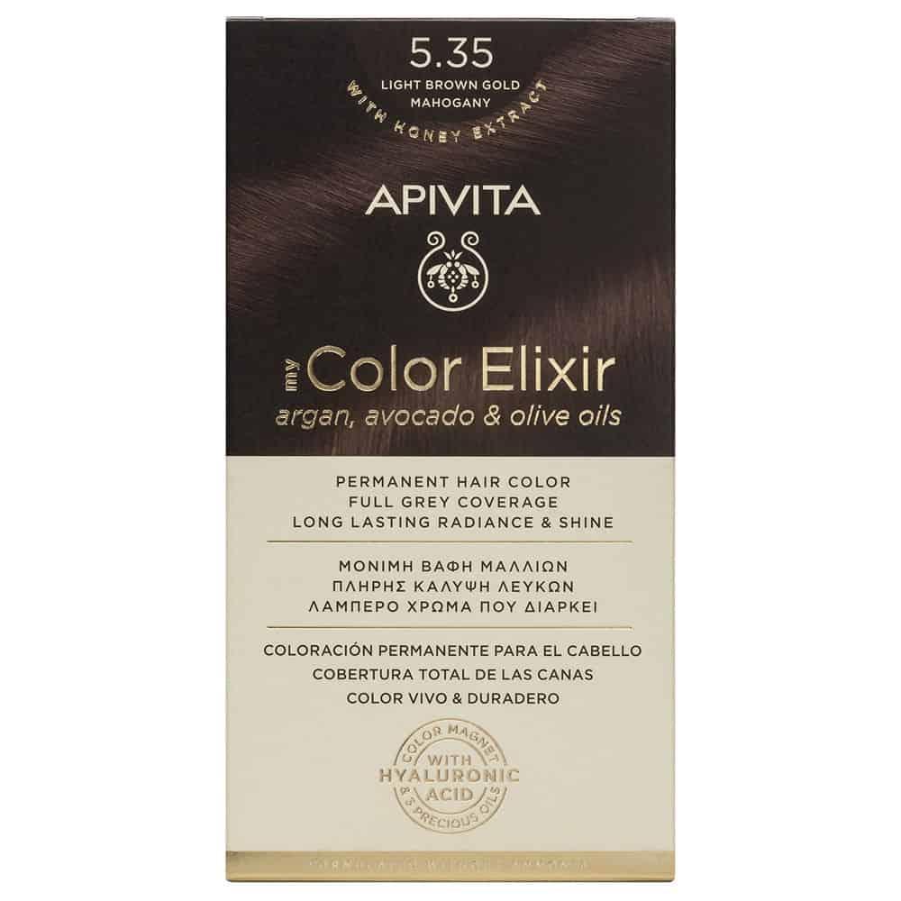 Apivita My Color Elixir N5.35 Καστανό ανοιχτό μελί μαονί
