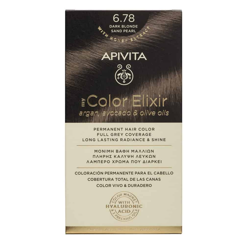 Apivita My Color Elixir N6.78 Ξανθό σκούρο μπεζ περλέ