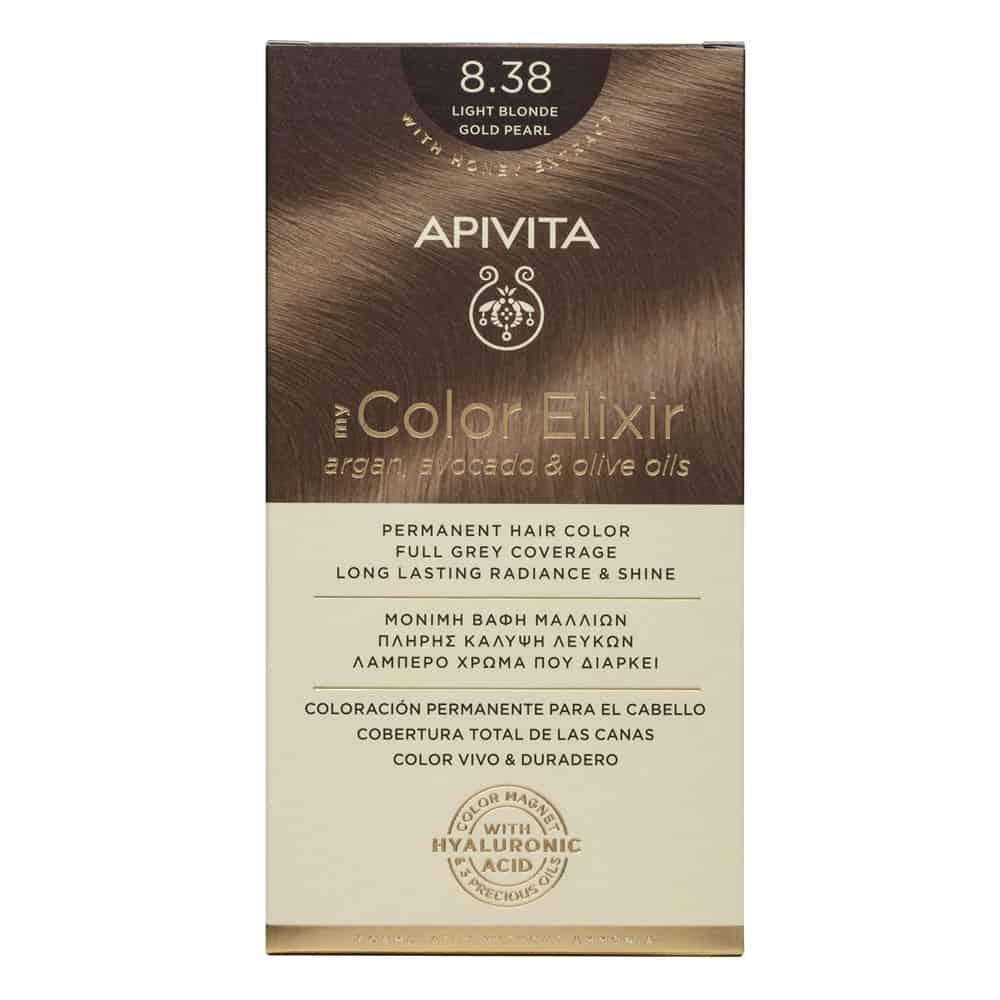Apivita My Color Elixir N8.38 Ξανθό ανοιχτό μελί περλέ