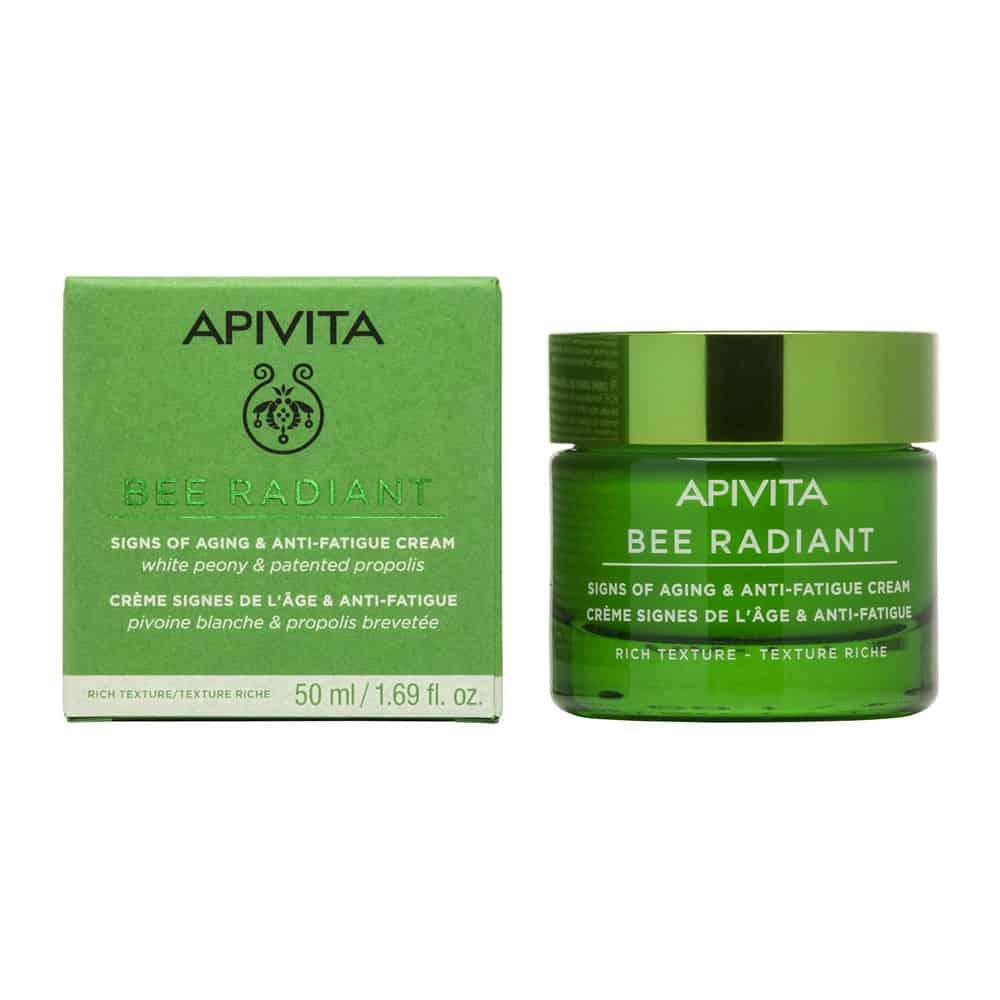 Apivita Bee Radiant Κρέμα Πλούσιας Υφής Για Σημάδια Γήρανσης και Ξεκούραστη Όψη 50ml