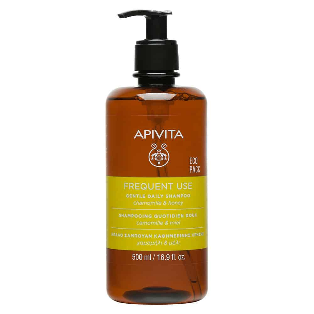 Apivita Frequent Use Gentle Daily Shampoo Απαλό Σαμπουάν Καθημερινής Χρήσης με Χαμομήλι και Μέλι 500ml