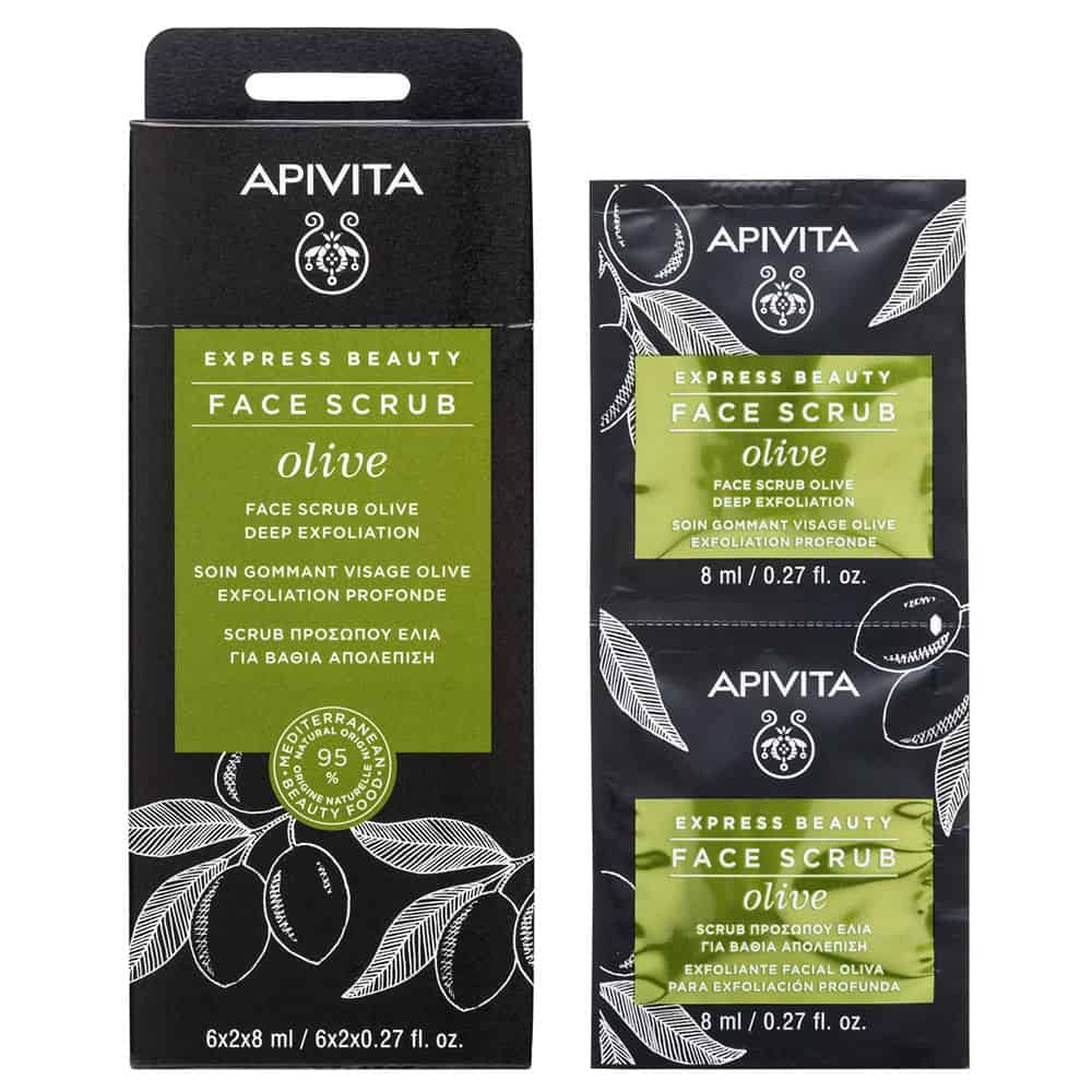 Apivita Express Beauty With Olive Κρέμα βαθιάς απολέπισης με ελιά 2x8ml