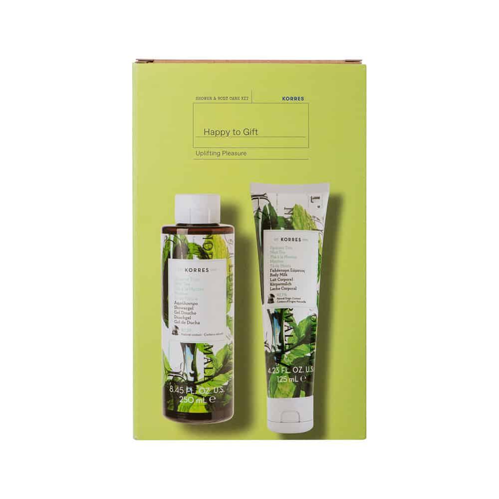 Korres Σετ Αφρόλουτρο Πράσινο Τσάϊ 250ml & Γαλάκτωμα Σώματος 125ml