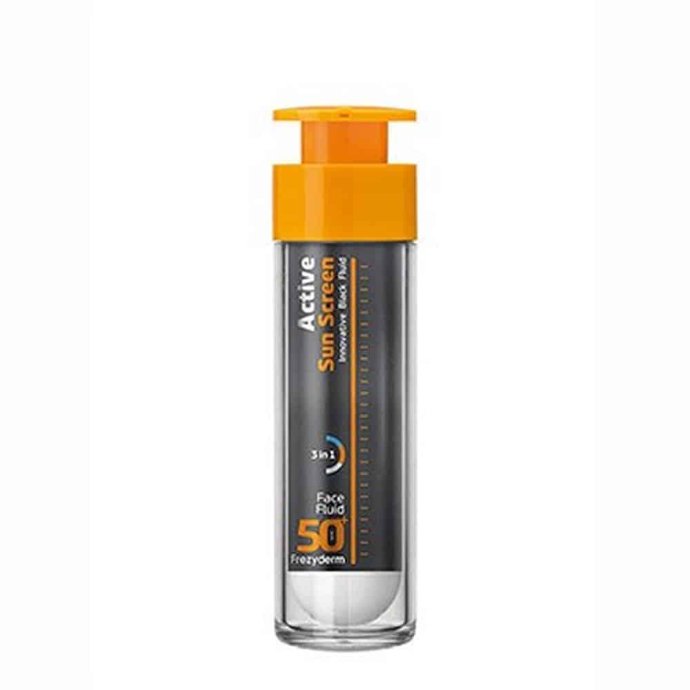 Frezyderm Active Sun Screen Face Cream Αντηλιακή Κρέμα Προσώπου Λεπτόρευστης Υφής SPF50+ 50ml