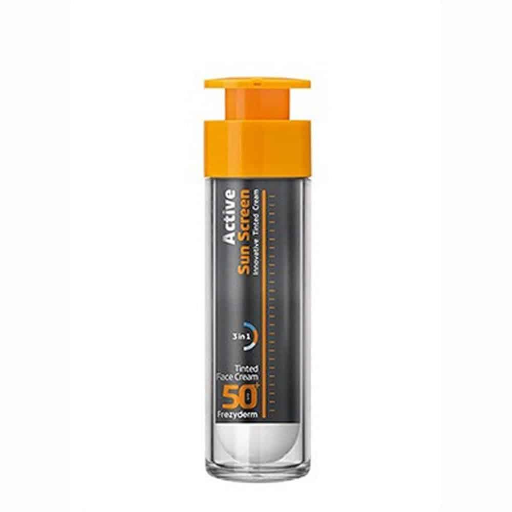 Frezyderm Active Sun Screen Face Cream Αντηλιακή Κρέμα Προσώπου με Πλούσια Υφή & Χρώμα SPF50+ 50ml