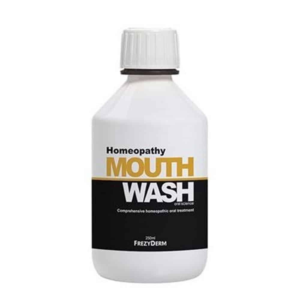 Frezyderm Homeopathy Mouthwash Στοματικό Διάλυμα για Ολοκληρωμένη Στοματική Φροντίδα των Ατόμων που Ακολουθούν Ομοιοπαθητική Αγωγή 250ml