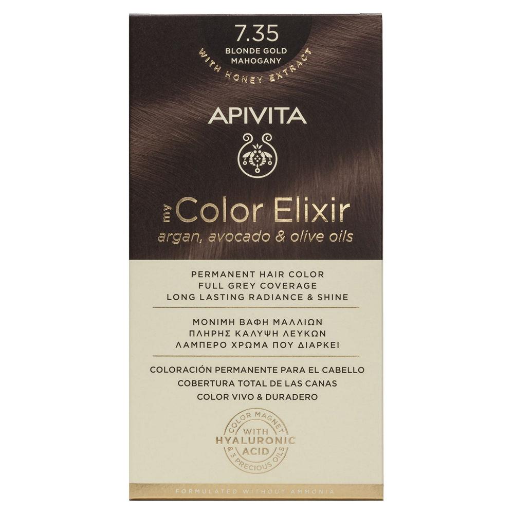Apivita My Color Elixir N7.35 Ξανθό μελί μαονί
