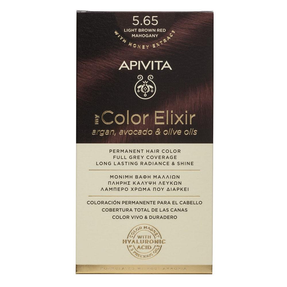 Apivita My Color Elixir N5.65 Καστανό Ανοιχτό Κόκκινο Μαονι