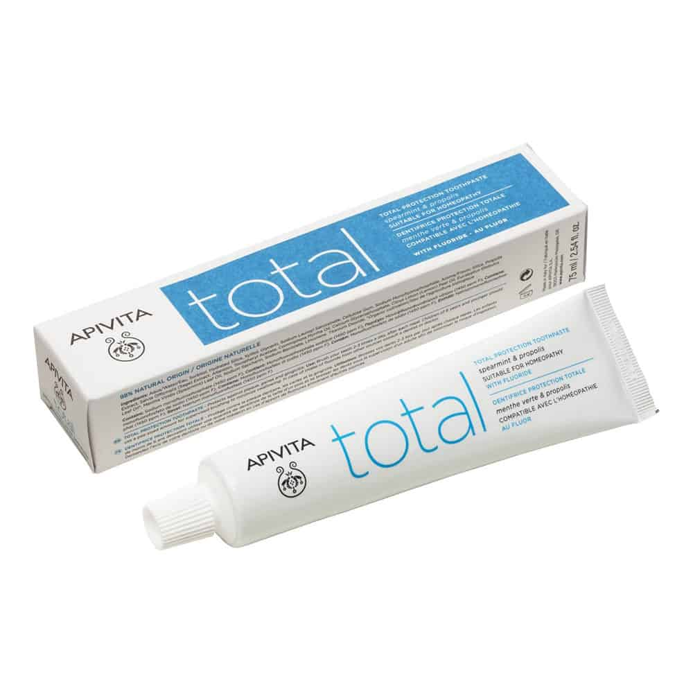 Apivita Total Οδοντόκρεμα Ολικής Προστασίας με Φθόριο Δυόσμος & Πρόπολη 75ml