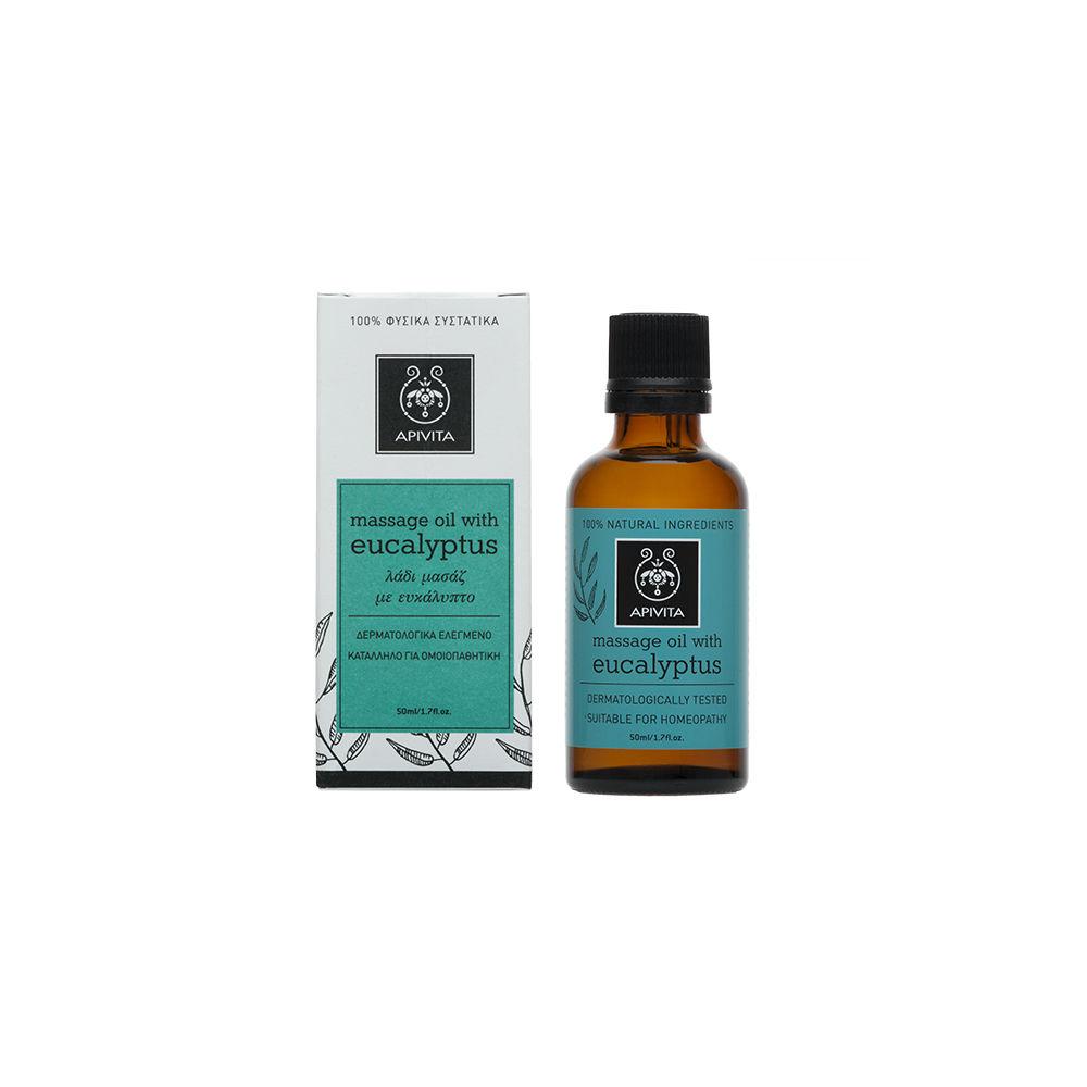 Apivita Natural Oil Massage Oil Ευκάλυπτος 50ml