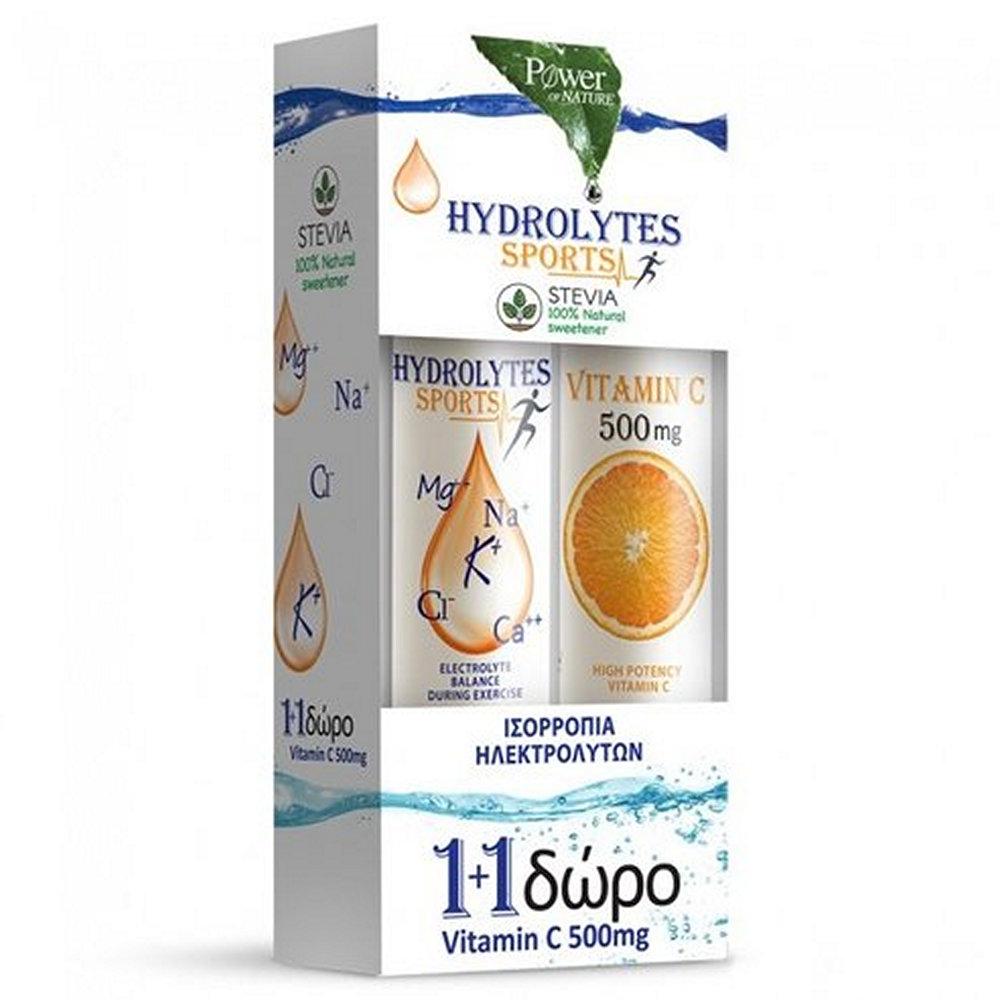 Power Health Hydrolytes Sports & Βιταμίνη C 500mg 2 x 20 δισκία