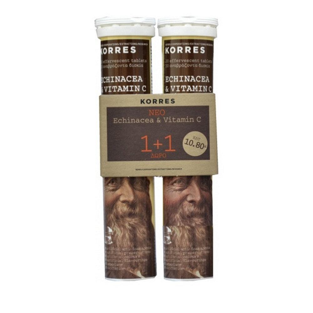 Korres Echinacea & Vitamin C 2 x 20 τμχ