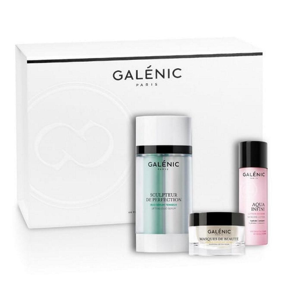 Galenic Set Sculpteur De Perfection V-Shape Duo Serum 30ml & Δώρο Masques De Beaute Warming Detox Mask 15ml & Aqua Infini Λοσιόν Ενυδάτωσης 40ml