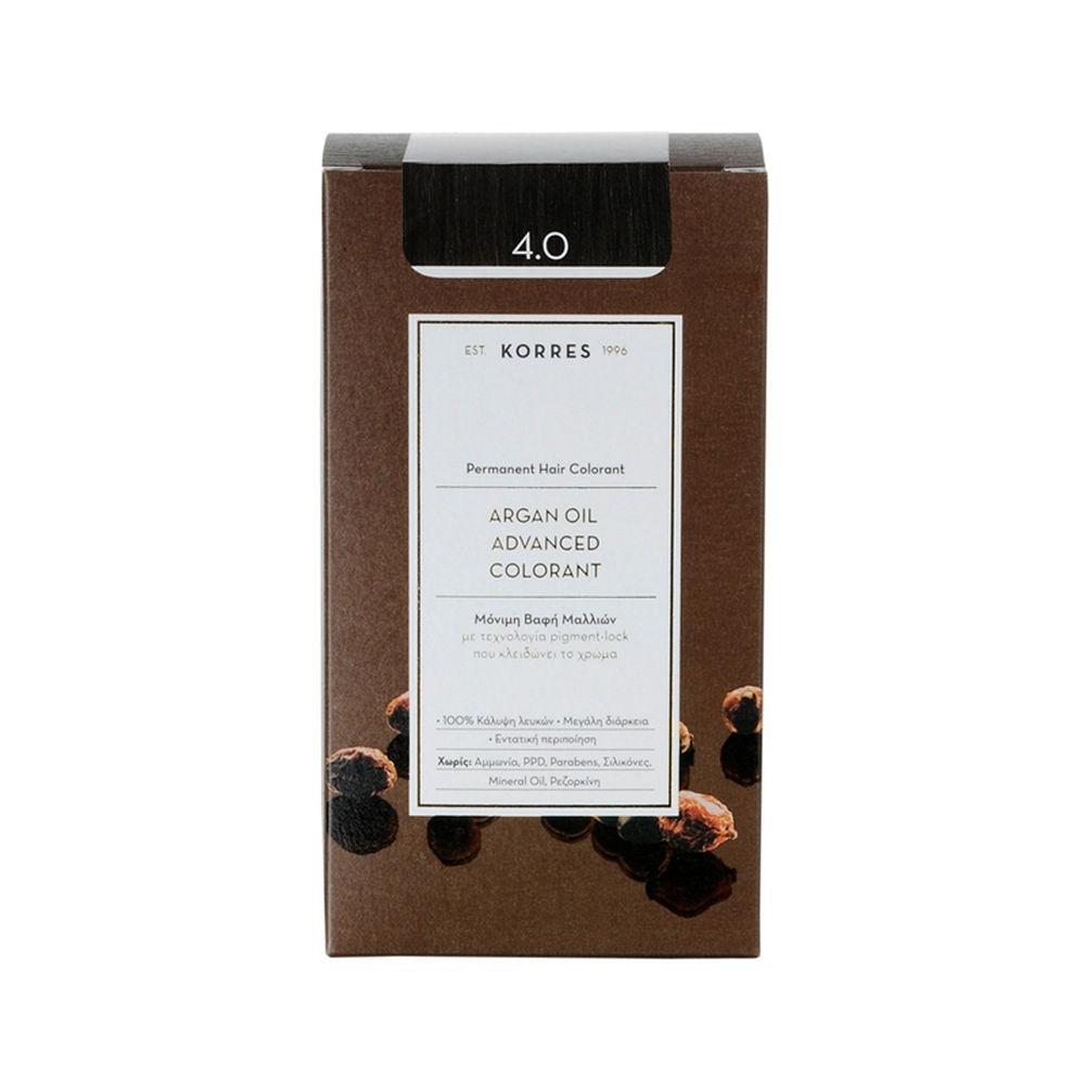 Korres Argan Oil Advanced Colorant Καστανό 4.0