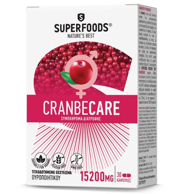 Superfoods Cranbecare 15200mg 30 κάψουλες