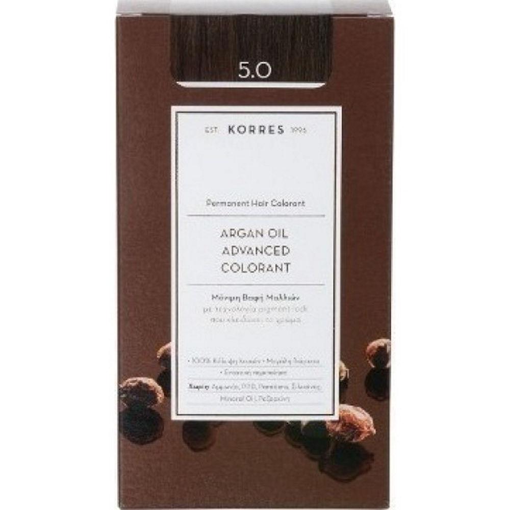 Korres Argan Oil Advanced Colorant Καστανό Ανοικτό 5.0