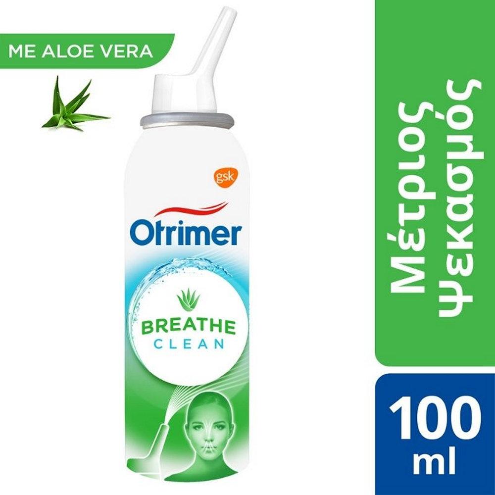 Otrimer Breathe Clean με Aloe Vera Φυσικό Ισότονο Διάλυμα Θαλασσινού Νερού. Μέτριος Ψεκασμός 100ml