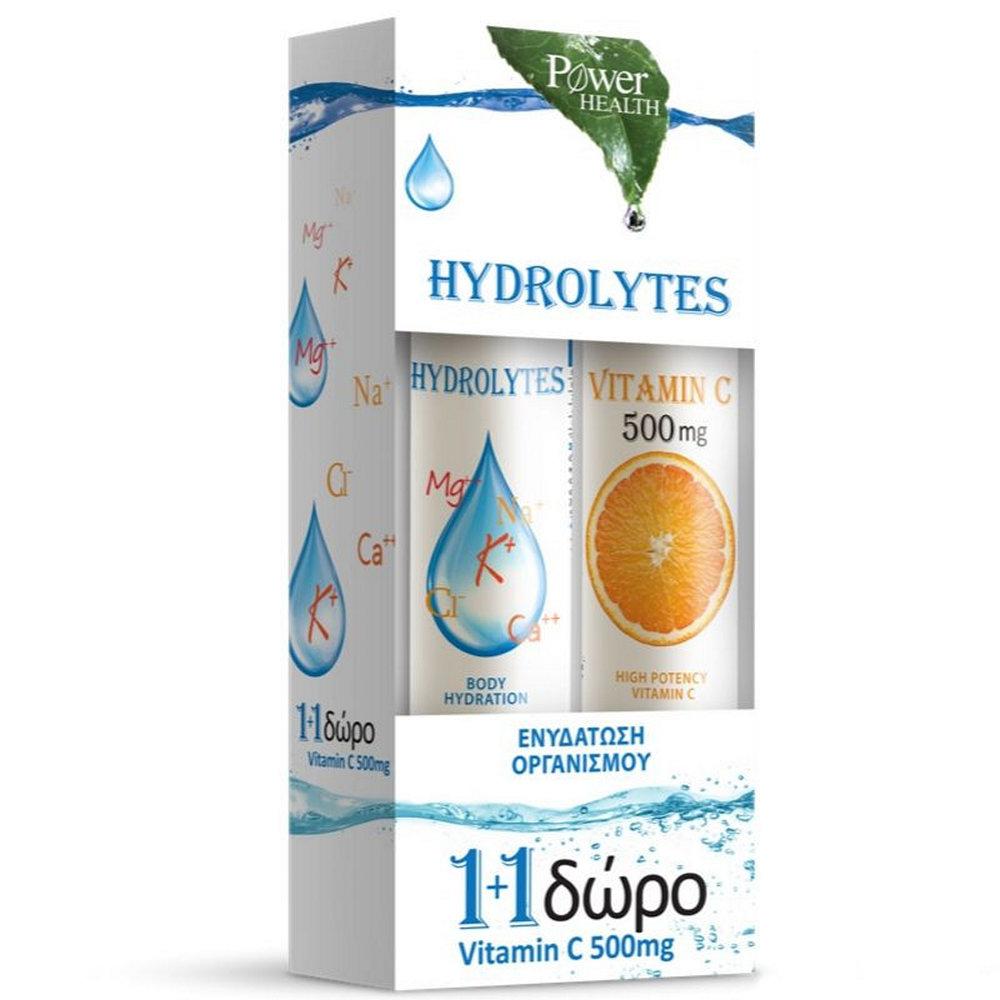 Power Health Hydrolytes Stevia & Vitamin C 500mg 2 x 20 δισκία