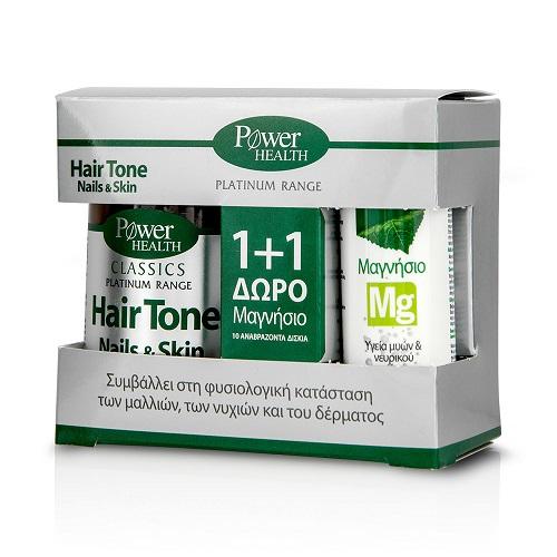 Power Health Classics Platinum Hair Tone, Nails & Skin 30 κάψουλες + ΔΩΡΟ Magnesium 220mg 10 αναβράζοντα δισκία