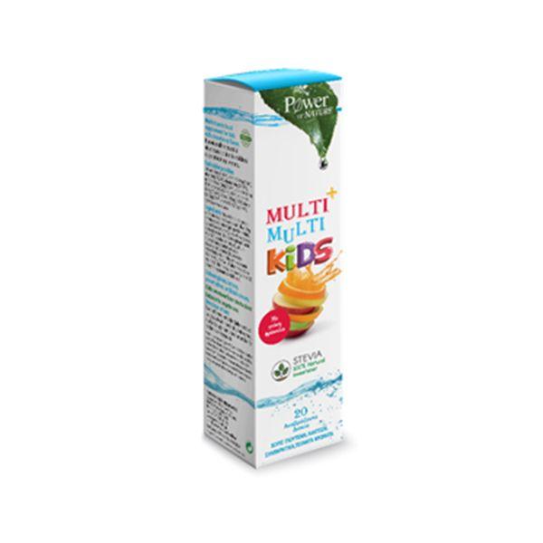 Power Health Multi + Multi Kids Stevia με Γεύση Φράουλα 20 ταμπλέτες αναβράζουσες