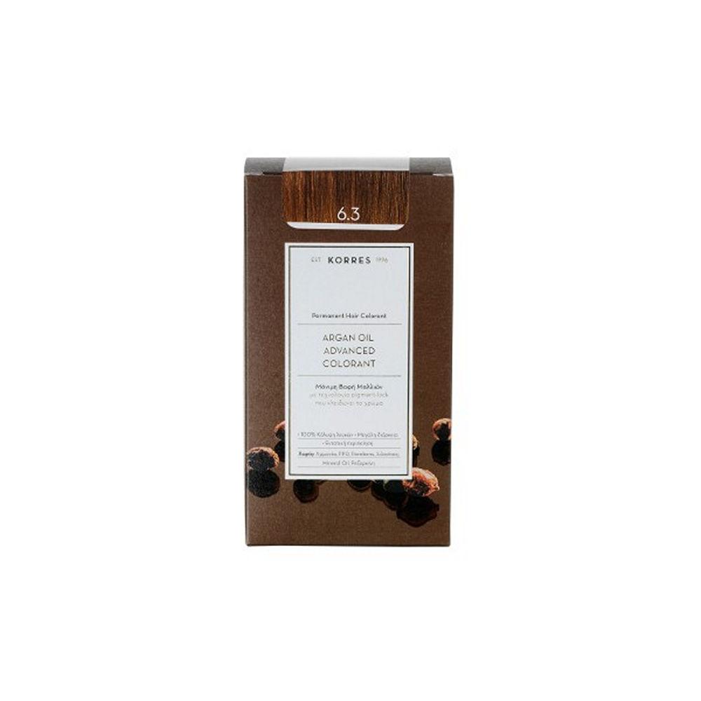 Korres Argan Oil Advanced Colorant Ξανθό Σκούρο Χρυσό 6.3