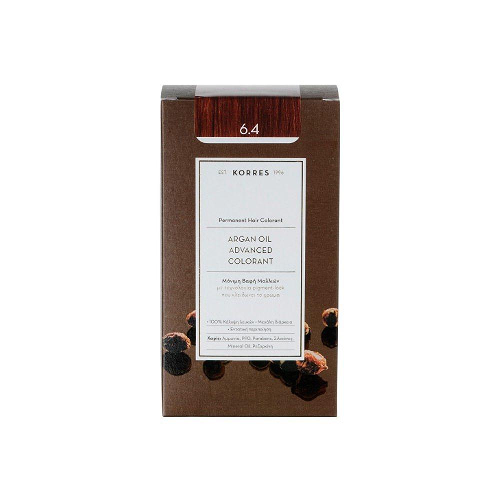 Korres Argan Oil Advanced Colorant Ξανθό Σκούρο Χάλκινο 6.4