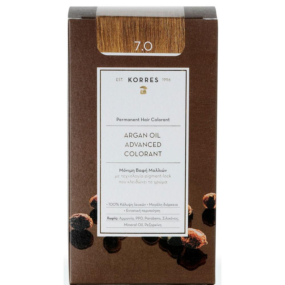 Korres Argan Oil Advanced Colorant Ξανθό 7.0