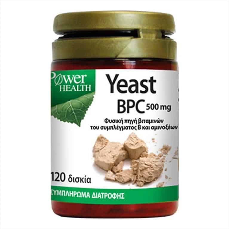 Power Health Yeast BPC 500mg Συμπλήρωμα Μαγιάς 120 δισκία