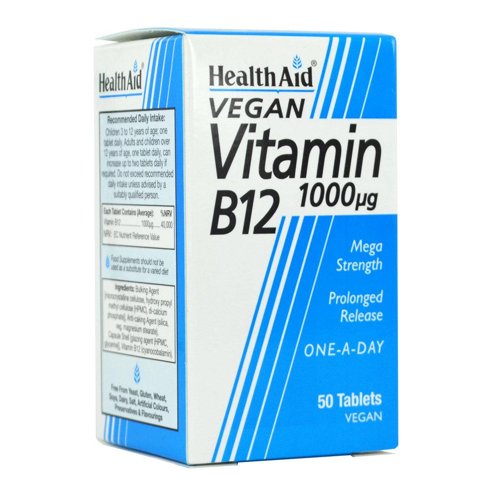 HealthAid Vitamin B12 1000mg 50 ταμπλέτες