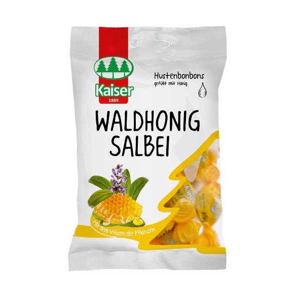 Kaiser Waldhonig Salbei - Φασκόμηλο - Μέλι Καραμέλες για τον Ερεθισμένο Λαιμό & το Βήχα 60gr