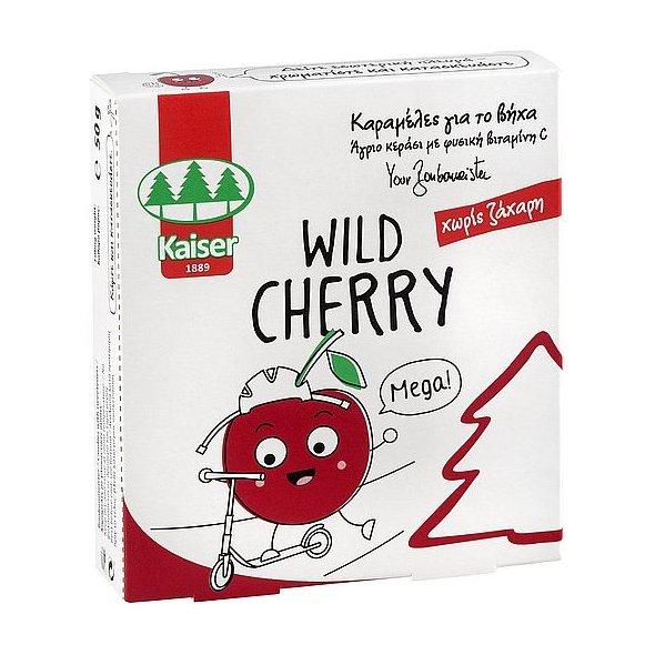 Kaiser Παιδικές Καραμέλες για το Βήχα, με γεύση κεράσι, 50gr