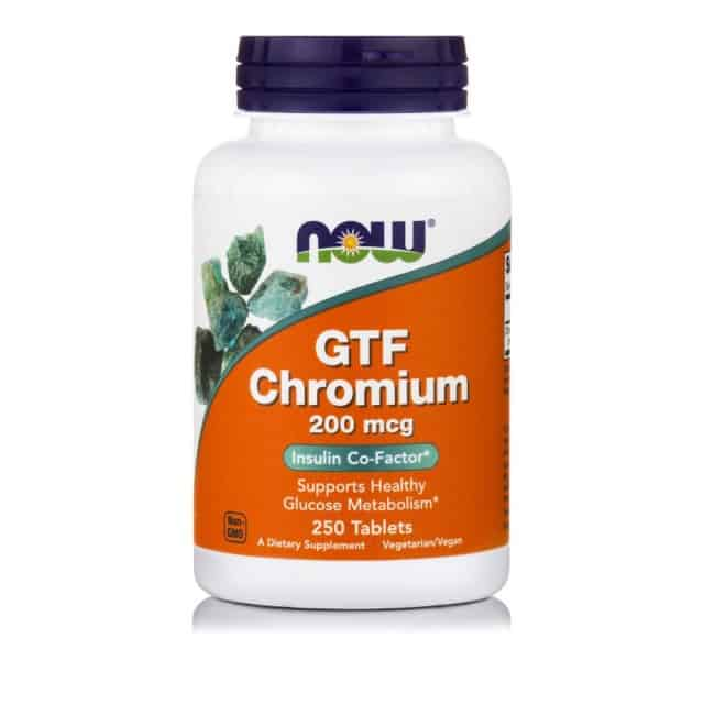 Now Foods GTF Chromium 200mcg 250 ταμπλέτες