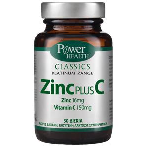 Power Health Classics Platinum Zinc Plus C 30 δισκία