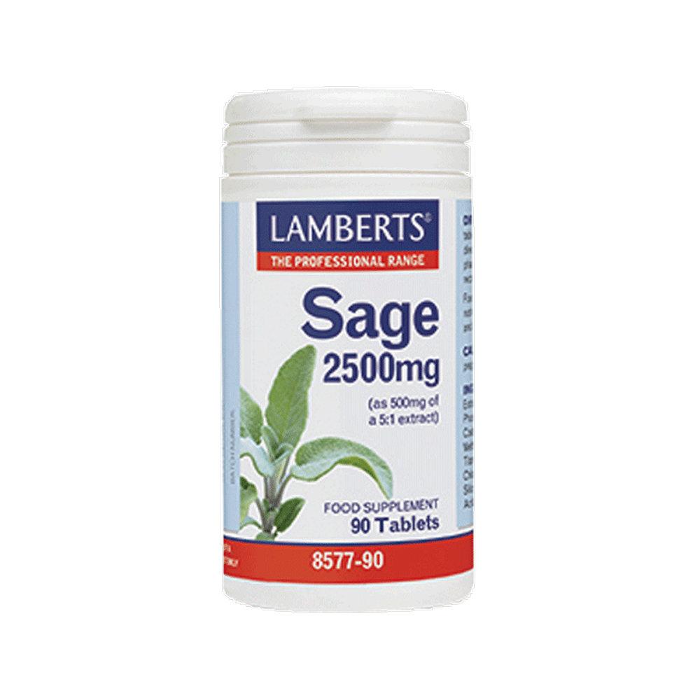 Lamberts Sage 2500mg Εκχύλισμα φασκόμηλου 90 ταμπλέτες