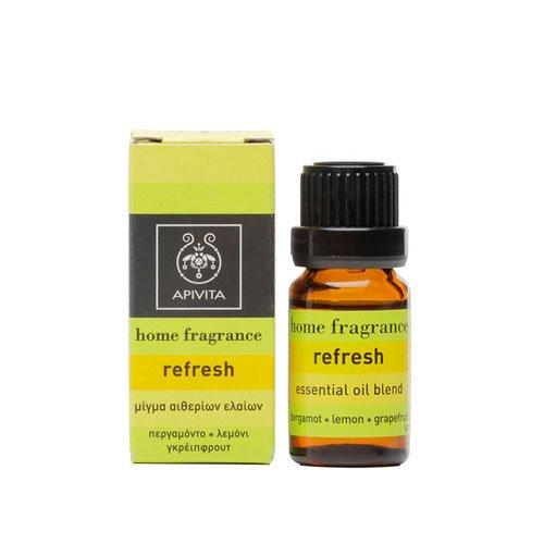 Apivita Αρωματικά Έλαια Home Fragrance Refresh με Περγαμόντο, Λεμόνι & Γκρειπφρούτ 10ml