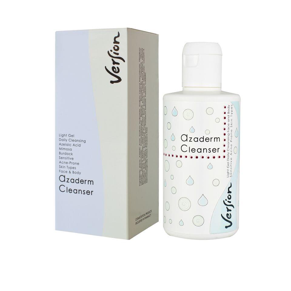 Version Azaderm Cleanser Gel καθημερινού καθαρισμού προσώπου και σώματος 200ml
