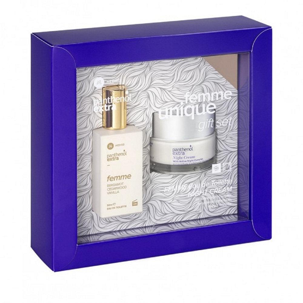 Panthenol Extra Promo Femme Eau De Toilette Bergamot,Cedarwood,Vanilla 50ml & Night Cream 50ml