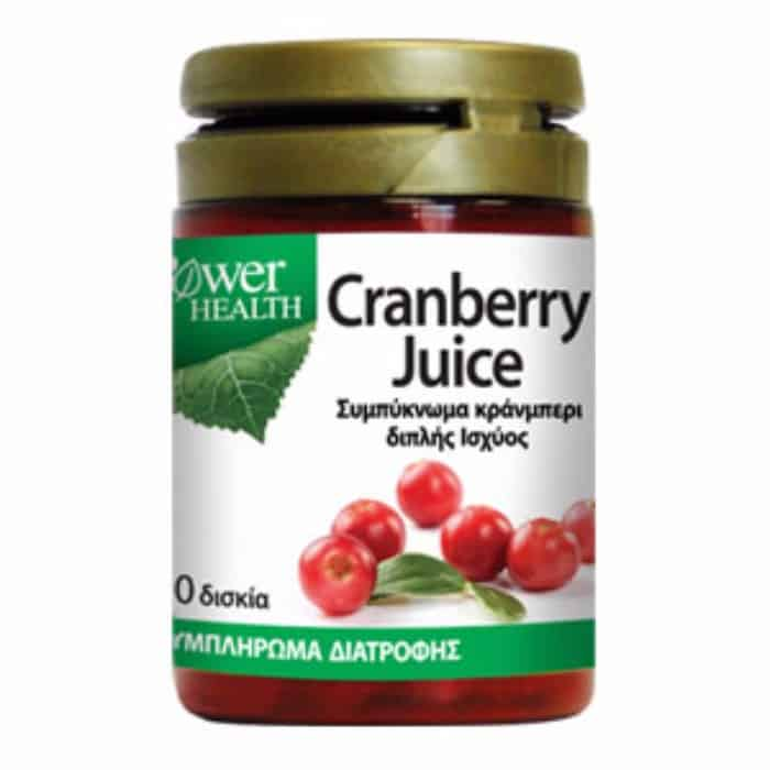 Power Health Cranberry Juice 4500mg 30 δισκία