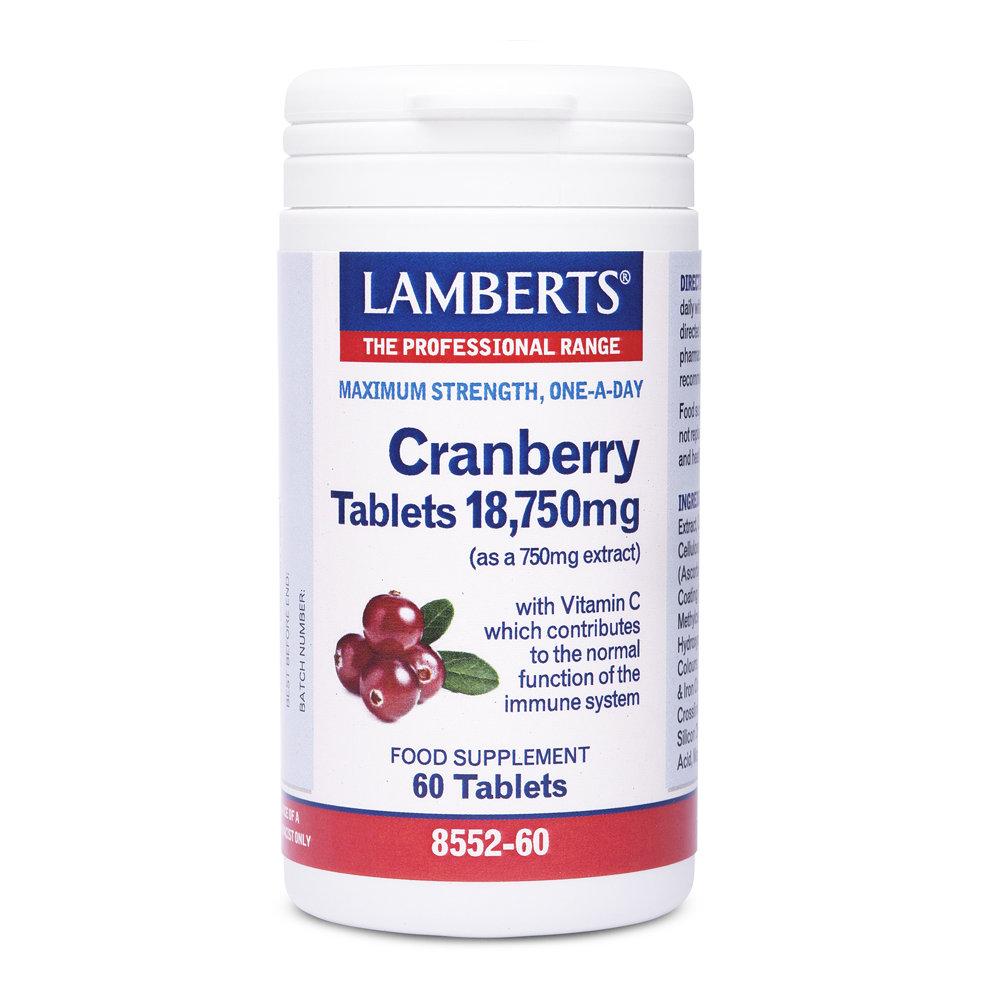 Lamberts Cranberry 18.750mg 60 ταμπλέτες