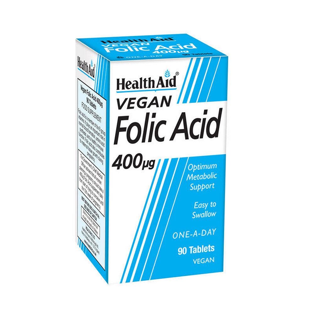 HealthAid Folic Acid 400mg 30 ταμπλέτες