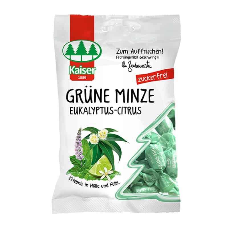 Kaiser Grüne Minze Ευκάλυπτος - Κίτρο για τον Επίμονο Βήχα 60gr